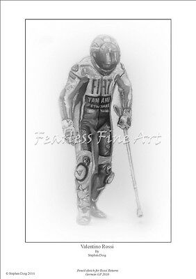 Valentino Rossi 'Return'  Open Edition giclee fine art print by Stephen Doig