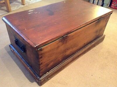 "Large Antique Box ""Sea Chest"" circa 18th - 19th centuries"