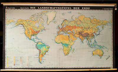 Geographical Zone of the World- Map in German- Dr Hermann Haack
