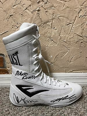 Sugar Ray Leonard Roberto Duran Thomas Hearns Signed Everlast Boxing Boot Psa