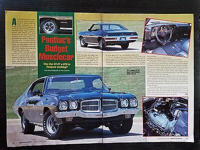 1971 Pontiac Tempest GT-37 - 2 Page Article - Free Shipping