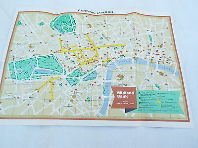 """~  CENTRAL  LONDON  MAP   16"""" x 11""""  ~"""
