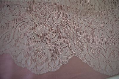 Exquisite Antique Wide Silk Chantilly Lace  – Wow!!  Ss671