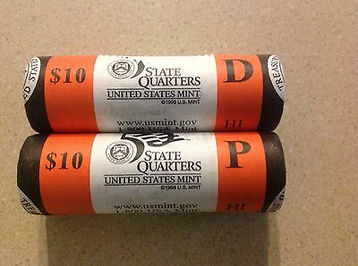 2008 P & D Hawaii State Quarter Rolls Us Mint Wrapped & Unopened