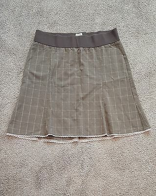Old Navy Cute Brown  Pink Maternity Skirt - Size Medium