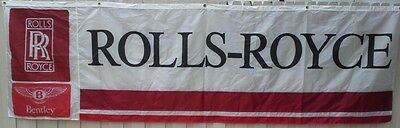 Original Rolls-Royce Dealership Banner Near-Mint Condition from1970s to 1980s