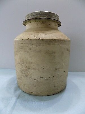 Antique 1800S~ Unglazed Canning Jar~Crock~Stoneware~Nr