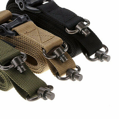 "Tactical 1 or 2 Point Multi 1.25"" Rifle Sling Quick Detach QD Swivel End Finest"