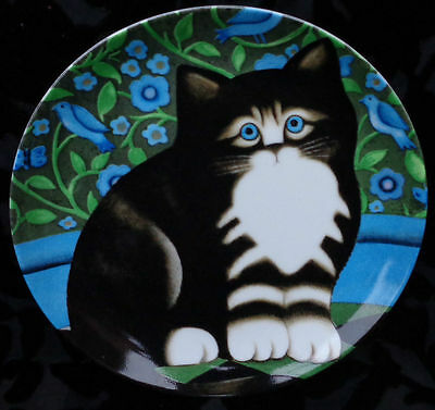 """Retired 1980S Department 56  Morris Cat Plate By Martin Leman 8.5"""" Japan Exc."""