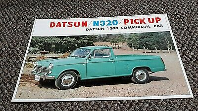 Datsun Truck Brochure Sports Pickup PU  NL320 1200 nos rare Early 60s Nissan