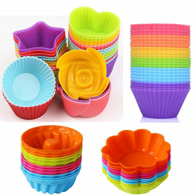 6 Shapes Silicone Cake Muffin Chocolate Cupcake Bakeware Baking Cup Mold Mould