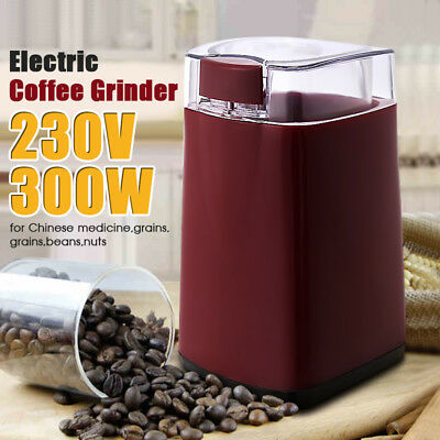 Electric Coffee Grinder Red Mixer Bean Maker Mill Spice Crusher Stainless Steel