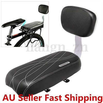 Black Bicycle Comfort Gel Rear Bike Seat Pad Cushion Cover Back Saddle Rest
