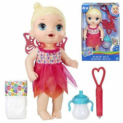 Baby Alive Face Paint Fairy Baby Doll - Drinks and wets - New in stock
