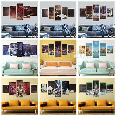 5PCS Modern Abstract Canvas Painting Print Picture Wall Art Home Decor No Frame