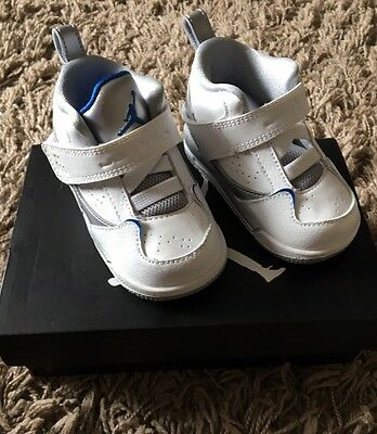 Nike air jordan 1 flight 3 BT infant toddler trainers 4.c white
