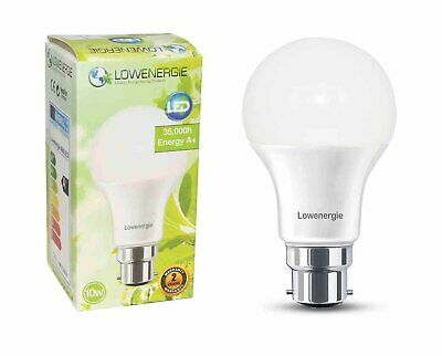 Lowenergie LED Light Bulb 10w B22 Day White 6000K A60 GLS A+ Energy Saving Lamp