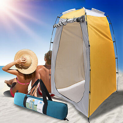 Portable Pop UP Fishing & Bathing Toilet Changing Tent Camping Room Yellow