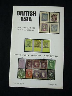 Robson Lowe Auction Catalogue 1976 British Asia