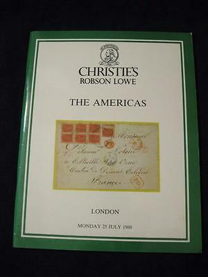 Christies Robson Lowe Auction Catalogue 1988 The Americas