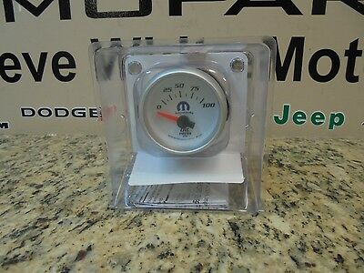 AutoMeter 0-100 PSI Mopar Series Analog Oil Pressure Gauge
