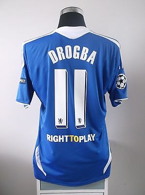 Didier DROGBA #11 Chelsea Home CL Football Shirt Jersey 2011/2012 (L)