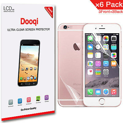 """6X Dooqi Front + Back HD Clear Screen Protector For Apple iPhone 7 4.7"""""""