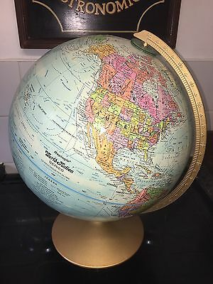 "Replogle 12"" Diameter Raised Terrain World Nation World Globe"
