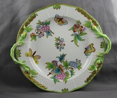 Herend Queen Victoria Handled Cake Plate 425