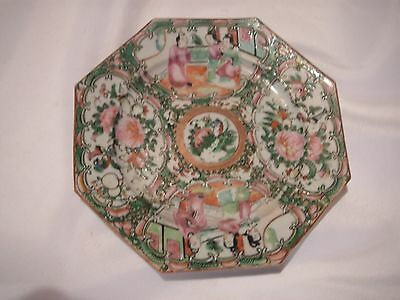 Old, Antique Chinese Export Famille Rose Mandarin Small Plate