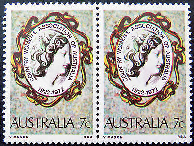 1972 Australian Stamps - 50th Anniversary Country Women's Assoc-Double MNH