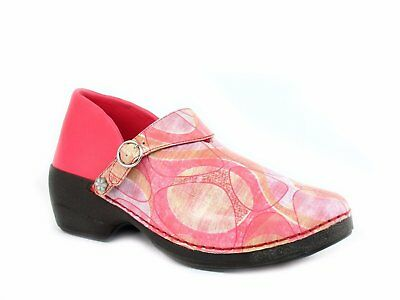 Rocky 4EurSole Women's Nurse Clogs three styles in 1 pair of shoes Red