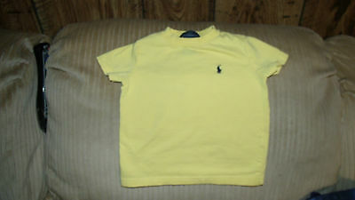 POLO by RALPH LAUREN BABY BOY'S 12 MONTHS YELLOW PULLOVER SS SHIRT
