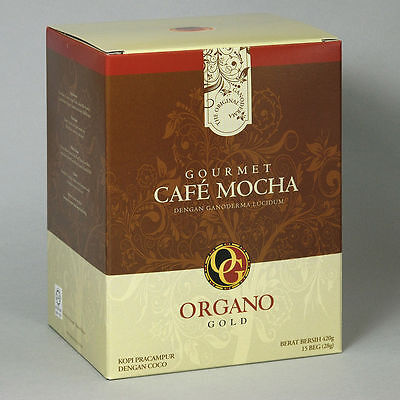 3 BOXES Organo Gold GOURMET CAFE MOCHA FREE EXPEDITED SHIPPING