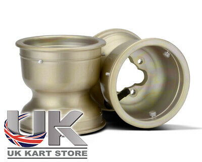 TonyKart / OTK 130mm MXL Gold Front Wheel Polished Pair UK KART STORE