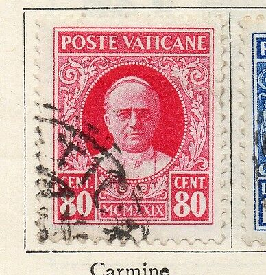 Vatican City Italy 1929 Early Issue Fine Used 80c. 149238