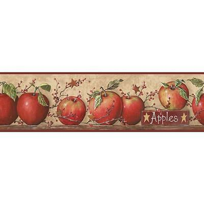 CB5558BD Red Country Apple Wallpaper Border