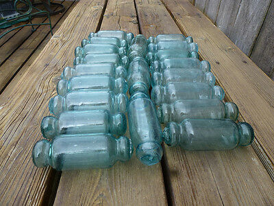 Vintage Japanese Glass Rolling Pin Fishing Floats, 20