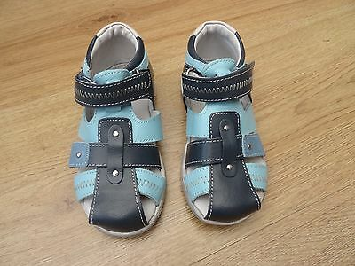 Boys Vertbaudet Size 6 Blue Sandals Summer Shoes Eur 23