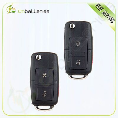 2 Replacement Keyless Entry Remote Fob Uncut Transponder Flip Key For Ford
