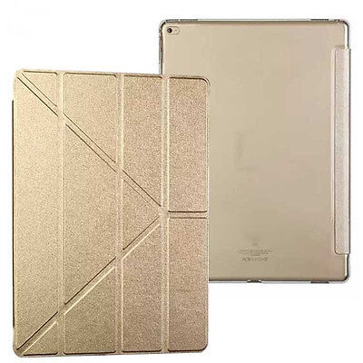 CUSTODIA Integrale SMART COVER SUPPORTO Stand per Apple iPad PRO Oro IPAD 9.7""