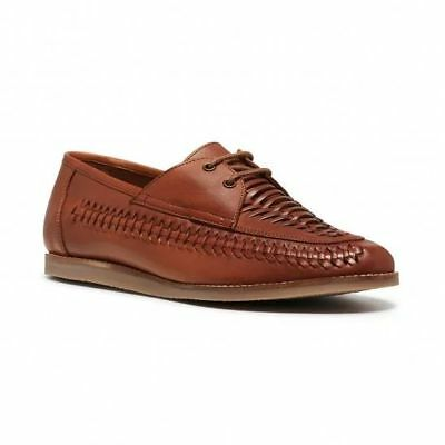 Mens Hush Puppies Waldon Tan Leather  Boat Shoes Loafers Casual Deep Comfort New