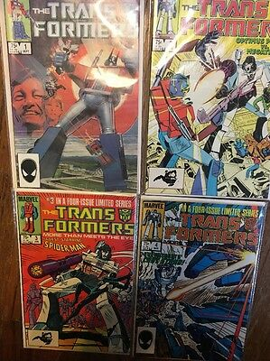 The Trans Formers #1 #2 #3 #4 Comic Book Lot Complete 4 Issue Series