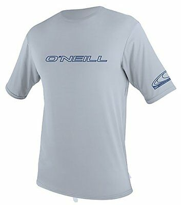 O'Neill Mens Basic Skins Rash Tee Short Sleeve XL Fog Blue Shirt 50+ UV New