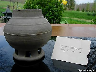 An Ancient Antique Korean Gray Pottery Vessel,silla 신라 (57Bc – 935Ad) Provenance