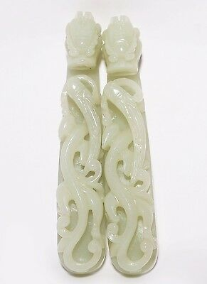 Exquisite Chinese Handwork 100% Natural Nephrite Jade ornament Collection