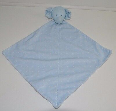 Carters Child of Mine Blue Elephant Polka Dots Security Blanket Baby Soft Toy