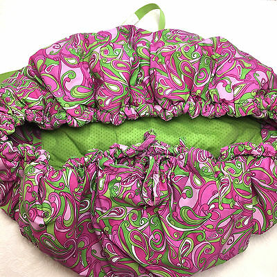 Baby Floppy Seat Shopping Cart Cover Highchair Cover Pink Green Paisley