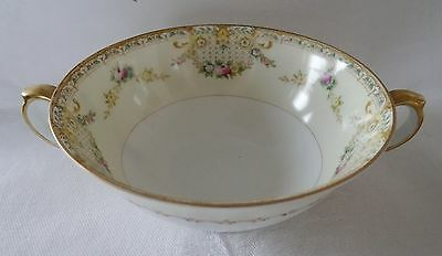 MEITO Japan Cream Soup  LORNA LOT 3 delicate floral gold rims NO SAUCERS