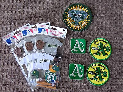 Vintage Oakland Athletics Patches 5 Pc. Lot  Old School Logos Free Shipping !!!